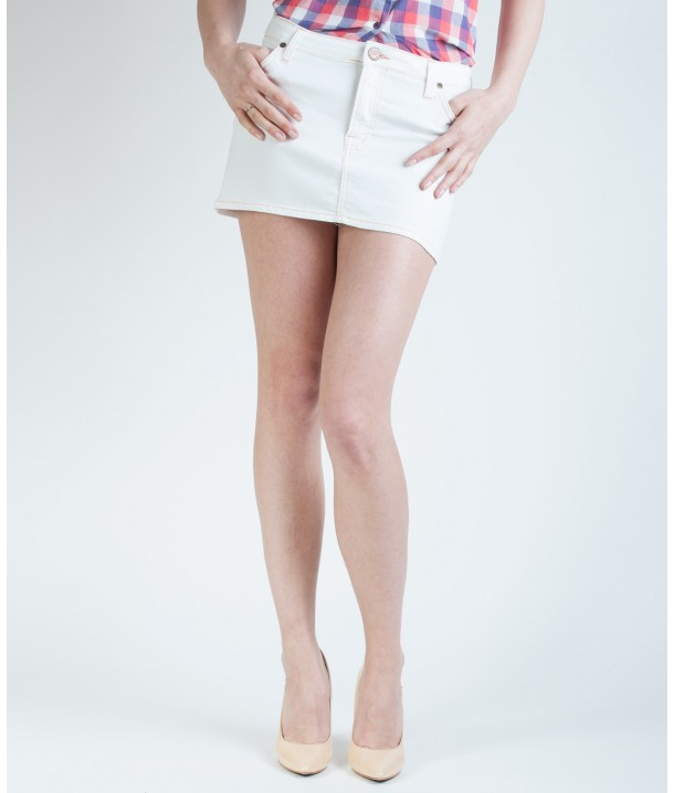 Lee MINI SKIRT L309 Pure White L309BG05