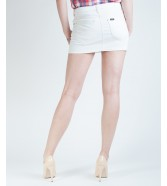Lee MINI SKIRT L309 Pure White