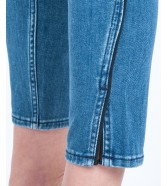 Lee Elly Cropped L32L Piped Stonewash