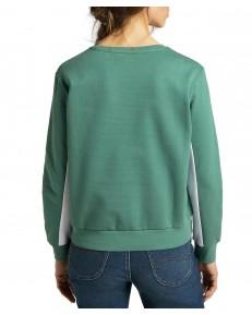 Bluza Lee COLOURBLOCK SWS L36Q Evergreen
