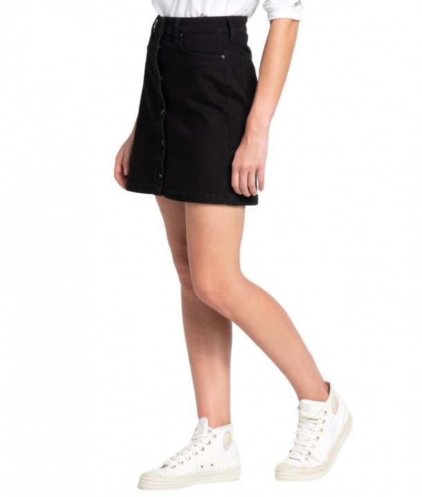 Lee A LINE SKIRT L38N Moto Black L38NIZLG