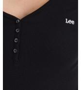 Koszulka Lee LS RIBBED HENLEY L40F Black