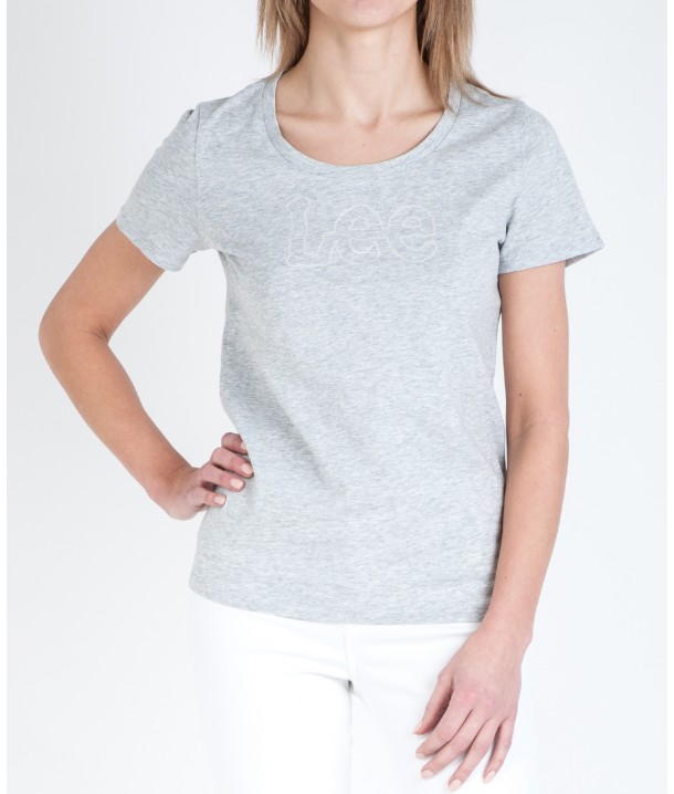 Lee WOBLY TEE L40J Sharp Grey Mele L40JHC03