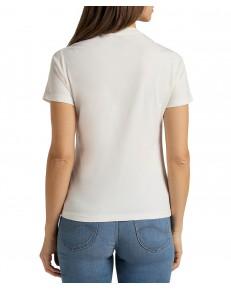 T-shirt Lee CIRCLE TEE L40T Off White