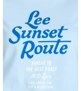 T-shirt Lee GRAPHIC TEE L41A Sky Blue