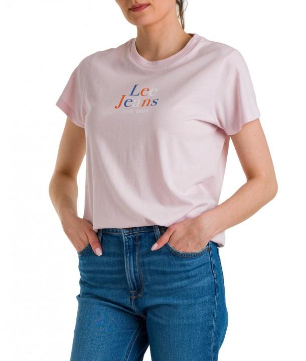 T-shirt Lee SEASONAL LOGO TEE L41G Pale Lilac