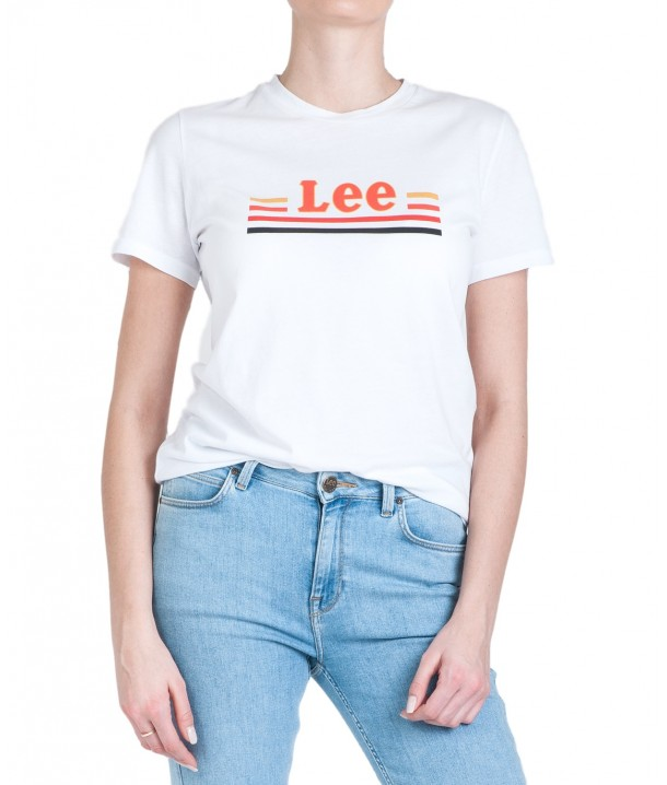 Lee ESSENTIAL SLIM TEE L41H Bright White L41HEPLJ