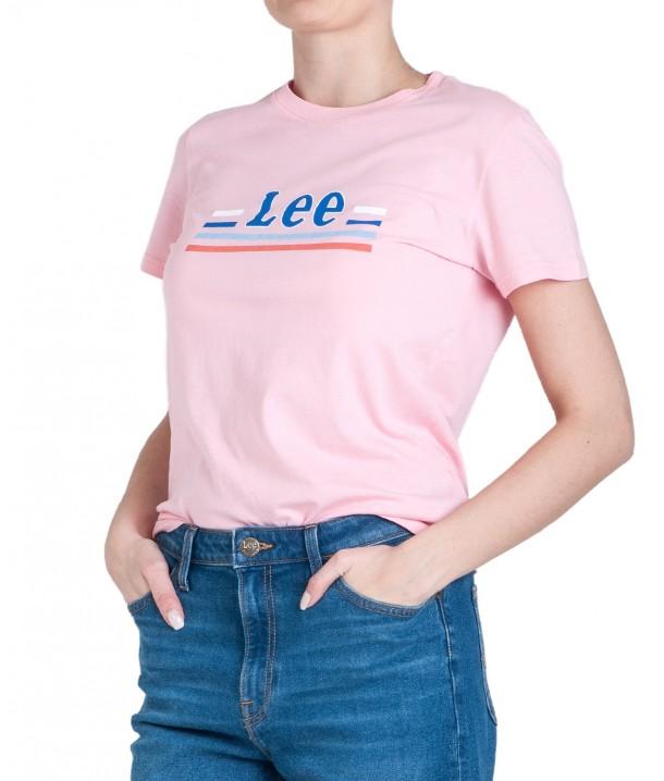 Lee ESSENTIAL SLIM TEE L41H La Pink