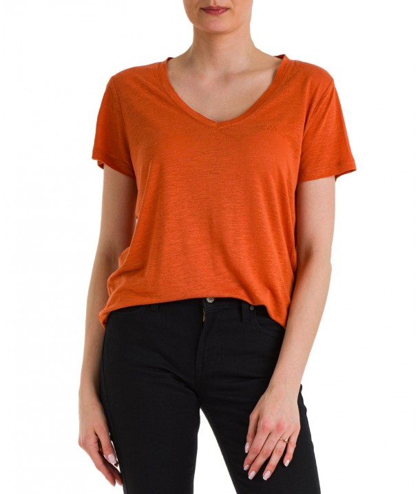T-shirt Lee V NECK TEE L41J Desert Orange