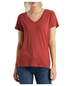 Lee V NECK TEE L41J Red Ochre