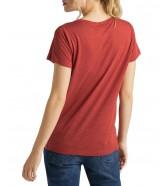 T-shirt Lee V NECK TEE L41J Red Ochre