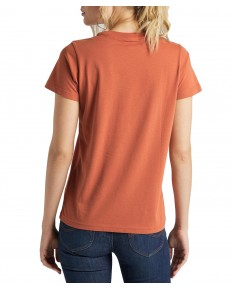 T-shirt Lee CREW NECK TEE L41L Burnt Ocra
