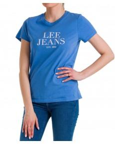 T-shirt Lee GRAPHIC TEE L41U Blue Yonder
