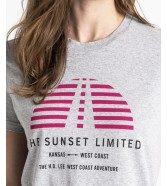 Lee SUNSET TEE L42X Grey Mele