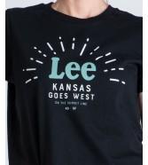 Lee SEASONAL LOGO TEE L42Y Black