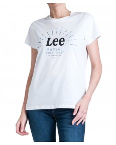Lee SEASONAL LOGO TEE L42Y Bright White