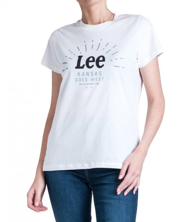 T-shirt Lee SEASONAL LOGO TEE L42Y Bright White L42YRELJ