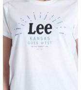 T-shirt Lee SEASONAL LOGO TEE L42Y Bright White