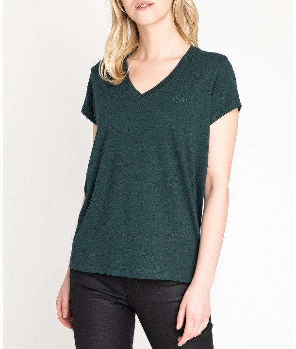 Lee V NECK TEE L43I Dark Green Bootle L43ITWBB