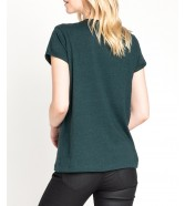 Lee V NECK TEE L43I Dark Green Bootle