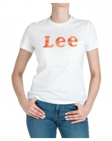 Lee SLIM LOGO TEE L43K Bright White