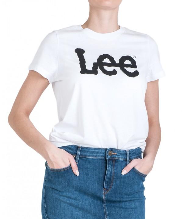 Lee LOGO TEE L43V White L43VEP12