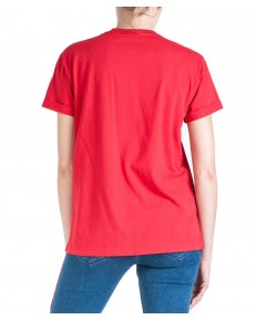 Lee CHEST LOGO TEE L43Z Warp Red