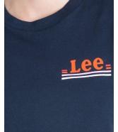 Lee CHEST LOGO TEE L43Z Midnight Navy