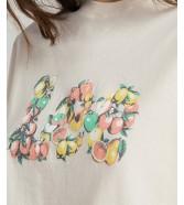 T-shirt Lee HALF SL GRAPHIC TEE L44J Ecru