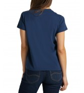 Lee CREW TEE L44O Washed Blue