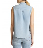 Lee SLEEVELESS SHIRT SHIRT L45G Sterling Blue