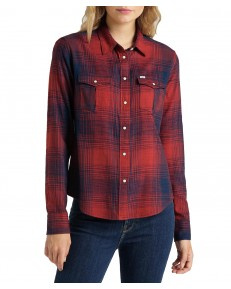 Lee REGULAR WESTERN SHIRT L45S Red Ochre