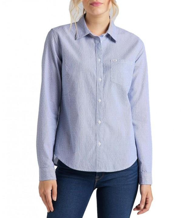 Lee REGULAR SHIRT L46A Washed Blue