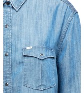 Lee WESTERN SHIRT L46C Bleached Denim
