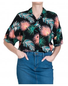 Koszula Lee FLORAL RESORT SHIRT L46D Black