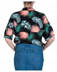 Lee FLORAL RESORT SHIRT L46D Black