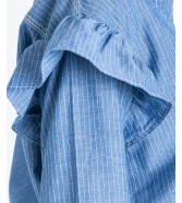 Lee RUFFLE SHIRT L48T Workwear Blue