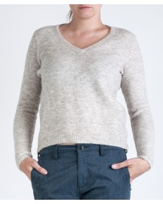 Lee Sweater V NECK KNIT L52F Ecru Mele