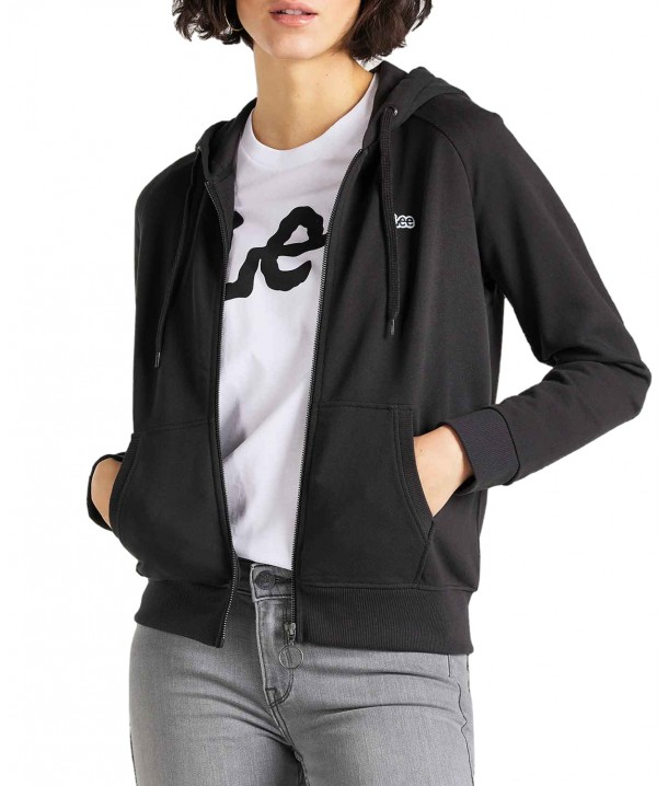 Lee ZIP THROUGH HOODIE L53Q Black L53QBR01