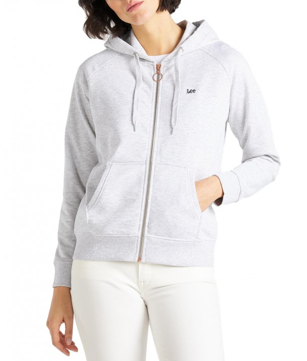 Lee ZIP THROUGH HOODIE L53Q Grey Mele L53QBR03