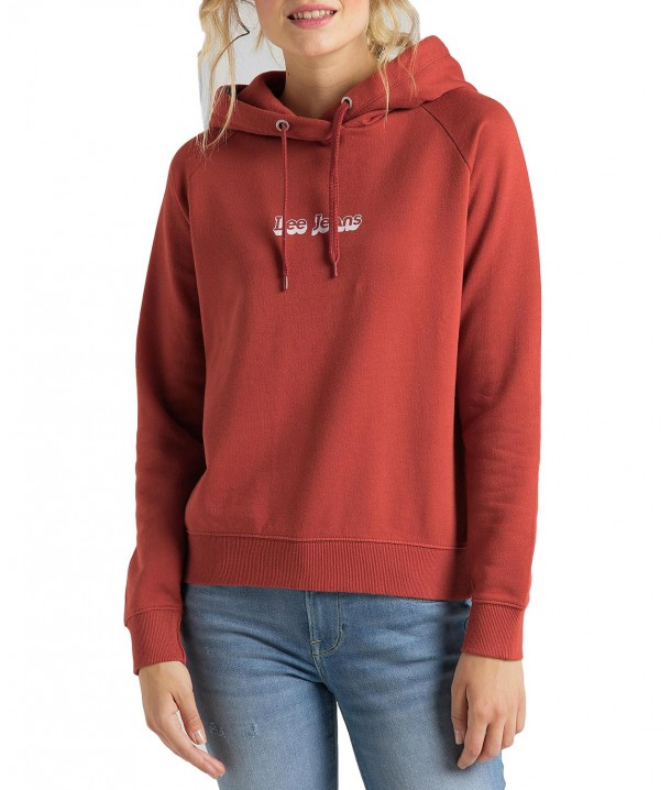 Lee HOODIE L53W Red Orche