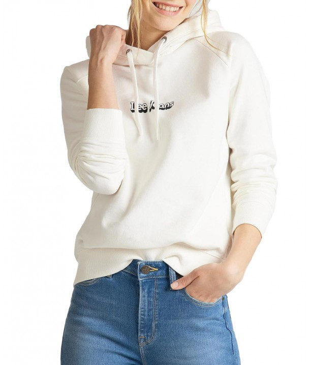 Lee HOODIE L53W White Canvas