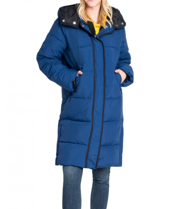 Lee LONG PUFFER JACKET L56W Oil Blue L56WVDMO