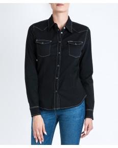 Koszula Lee SLIM WESTERN L59B Black Contrast