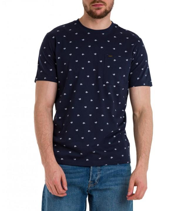 T-shirt Lee SS PAISLEY TEE L60M Navy