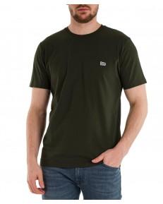 T-shirt Lee PATCH LOGO TEE L60U Serpico Green
