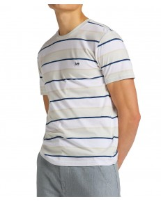 Lee STRIPE TEE L60X Dawn Blue