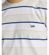 T-shirt Lee STRIPE TEE L60X Dawn Blue