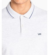 Lee PIQUE POLO L61A Sharp Grey Mele
