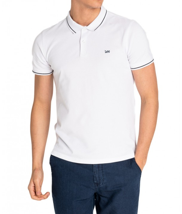 Lee PIQUE POLO L61A Bright White L61ARLLJ